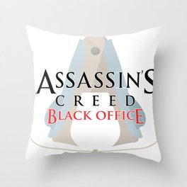 Assassin's Creed Black Office Throw Pillow