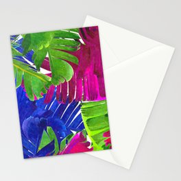 Colorful tropical leaves Stationery Cards