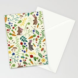 Rabbits In The Garden Stationery Cards