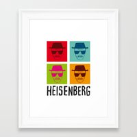 popart Framed Art Prints featuring Heisenberg Popart by Nxolab