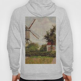 Windmill At Knokke Belgium 1894 By Camille Pissarro | Reproduction | Impressionism Painter Hoody