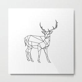 3D Buck Minimal Metal Print