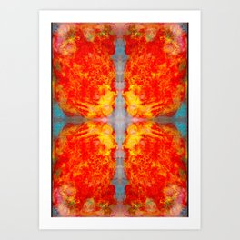 decided - oil pastel abstract digtal pattern Art Print