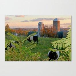 Farm in Autumn Canvas Print