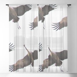 Cranes in flight #decor #society6 Sheer Curtain