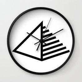 Pyramid Icon Logo Wall Clock
