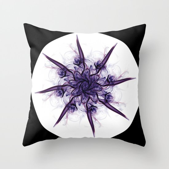 Smoke Flower 4 Throw Pillow