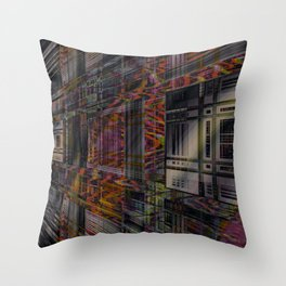 The Compartment Apartments Throw Pillow