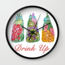 Drink Up! Wall Clock
