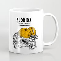 florida Mugs featuring Florida by Krikoui