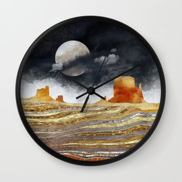 Metallic Desert Wall Clock