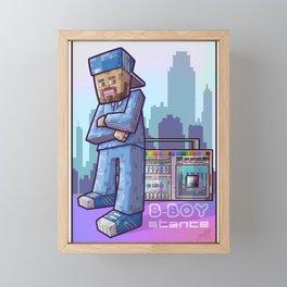 BBoy Stance Framed Mini Art Print