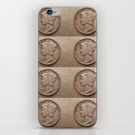 Coins - Old Dimes iPhone Skin