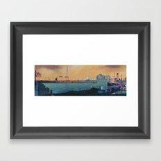Broadway City Pier, Baltimore, MD Framed Art Print