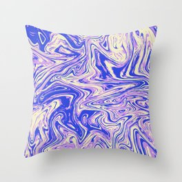 Purple marble with raspberry tint Throw Pillow