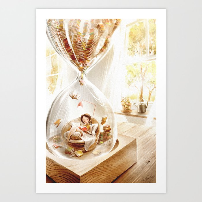 LOVE TO READ | Inside The Hourglass Art Print