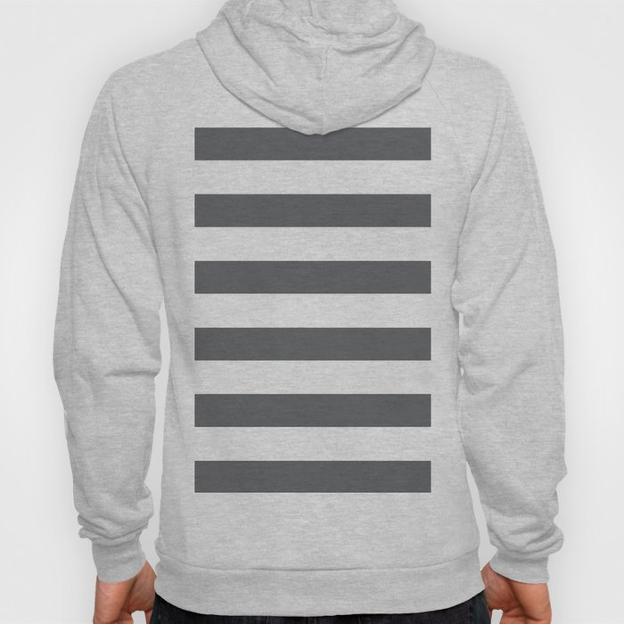 Simply Striped in Storm Gray and White Hoody