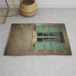 green window shutters Rug
