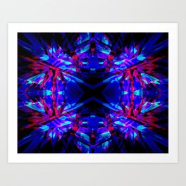 Dark kaleidoscope pattern Art Print