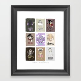The Beatle's Character Collective Framed Art Print