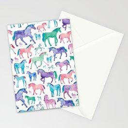 Pastel Unicorn Pattern Stationery Cards