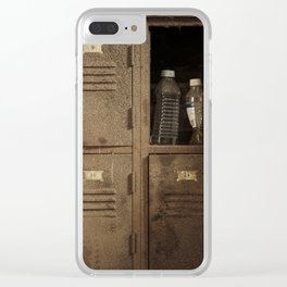 Vintage lockers Clear iPhone Case