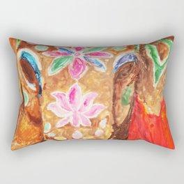 Painted Elephant Rectangular Pillow