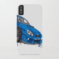 subaru iPhone & iPod Cases featuring Subaru Impreza by Claeys Jelle Automotive Artwork