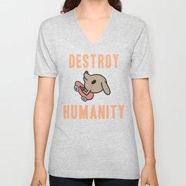 DESTROY HUMANITY Unisex V-Neck