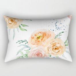 Pastel Floral Pattern 01 Rectangular Pillow