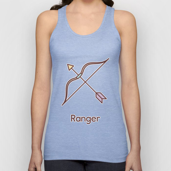 Cute Dungeons and Dragons Ranger class Unisex Tank Top