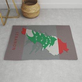 Lebanon, Outline, Map Rug