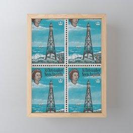 Sombrero light house, Nevis Anguilla post stamp Framed Mini Art Print