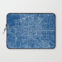 Beijing City Map of China - Blueprint Laptop Sleeve