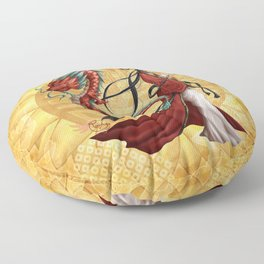 Chinese dragon Floor Pillow