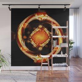 Divine Wheel of Mirrors Wall Mural