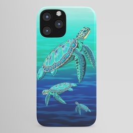 Sea Turtle Turquoise Oceanlife iPhone Case