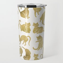 Cat Positions – Gold Palette Travel Mug