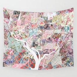Washington map flowers Wall Tapestry