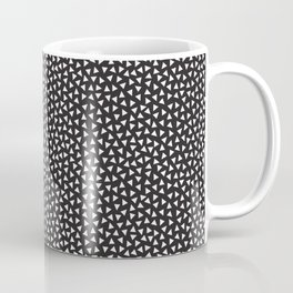 Postmodern Black + White Mini Triangle Toss Coffee Mug