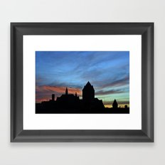 Sunsets and Silhouettes Framed Art Print