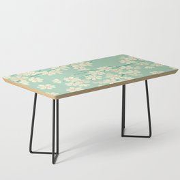Turquoise Bloom Coffee Table