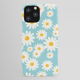 White Daisies Heaven Blue iPhone Case
