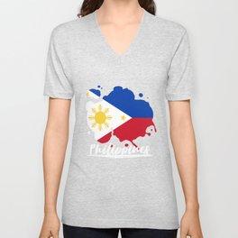Philippines Flag Unisex V-Neck