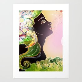 Caballos galopan Art Print