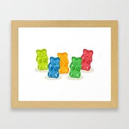 Gummy Bears Gang Framed Art Print