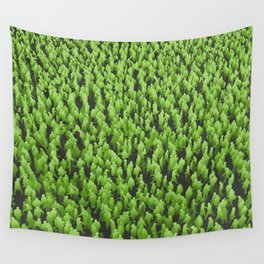 Like Blades of Grass / Large crowd of people illustration Wall Tapestry