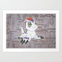 Digimon Adventure - Gomamon Art Print