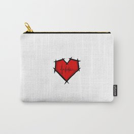 Stitched Heart Carry-All Pouch