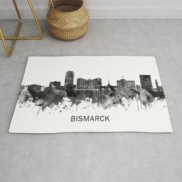 Bismarck North Dakota Skyline BW Rug